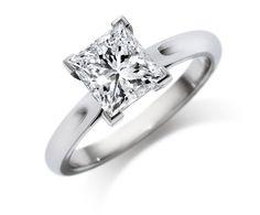 Princess cut diamond ring.