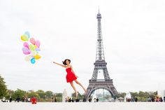 """Thinking of how I, one day"""" take my photo(s) in front of the Eiffel tower"""