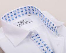 White Mens Business Shirt French Cuff Formal Herringbone Dress Luxury Boss TOP   eBay