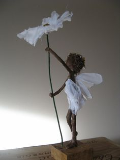 Daisy fairy. Sculpture of flower fairy. Made to order