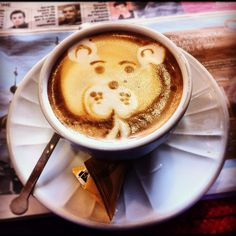 Cappuccino bear face