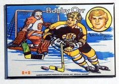 "Vintage BOBBY ORR BOSTON BRUINS Lunchbox 2"" x 3"" Fridge MAGNET Art"