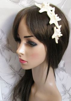 Real Starfish /& Sea Shell Headband Mermaid Vintage Beach Bridal Fancy Dress k33