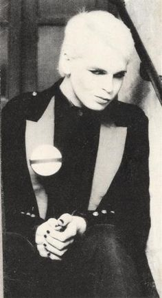 """Gary Numan, 1979 was when I heard his classic """"Are Friends Electric?"""" neither I, nor my fellow Montreal's could get enough of it. The video, never shown in North America, was banned in Britain. The song is about a man who hires a 'Friend' (human-looking robot) for sex. But, the majority of you will know Numan, from his song/video """"Cars"""". (DB)"""