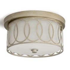 $288 This fabulous flush mount fixture designed by Regina Andrew is the perfect solution for a bathroom with low ceilings. Put this flush mount light fixture in your