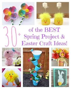 Over 30 of the BEST Spring Project & Easter Craft Ideas from http://KitchenFunWithMy3Sons.com
