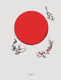 Koi and Sun Art Print by Huebucket   Society6