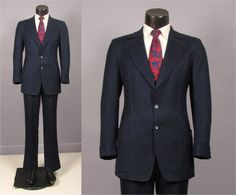 Mens Suit  Vintage Late 1960s Early 1970s Mens by jauntyrooster
