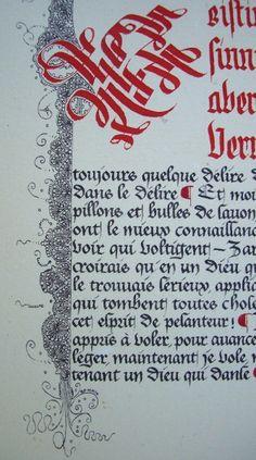 Anachropsy - Calligraphie latine par Benoit Furet - Abandonne les ténèbres du sommeil...