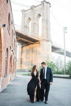 Dumbo Brooklyn Engagement Session at the Brooklyn Bridge Park and Jane's Carousel. Engagement photos by Ayenia Nour Photography-NYC Wedding Photographer Elegant Engagement Photos, Engagement Photo Outfits, Engagement Photo Inspiration, Engagement Couple, Engagement Pictures, Engagement Shoots, Engagement Photography, Wedding Pictures, Wedding Engagement