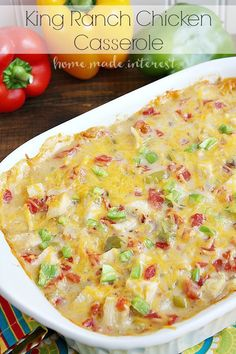 This creamy king ranch chicken casserole is simple to make and perfect for family dinners on busy weeknights. Make back to school meal prep quick and easy.
