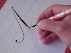 how to write copperplate capital letters
