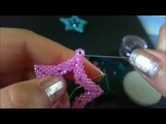 Tutorial ciondolo stella peyote swarovski - YouTube