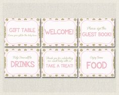 Glitter Baby Shower Printable Signs Welcome Gift Table Sign Guest - http://www.babyshower-decorations.com/glitter-baby-shower-printable-signs-welcome-gift-table-sign-guest/