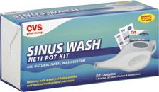 CVS Sinus Wash Neti Pot Kit - As a woman with allergy/sinus issues all but constantly, I rely on my neti pot many mornings to clear out and disinfect my sinuses.  I can get almost all of my passages clear in just a few minutes with the neti pot.  It truly is amazing!