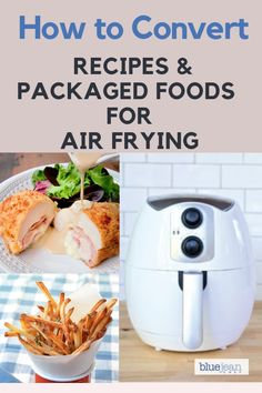 How to Convert any recipe you can make in your oven to your air fryer. Learn the general rules for successful air frying every time. See how the rules also apply to packaged prepared foods. And how to adjust recipes for YOUR air fryer. Air Fryer Cooking Times, Cooks Air Fryer, Air Frier Recipes, Air Fryer Oven Recipes, Easy Cooking, Cooking Tips, Cooking Recipes, Cooking Pork, Cooking Games
