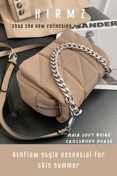 Maia Crossbody Purse will be your new favorite 2021everyday purse just like your Athflow outfit styled with a touch of sartorial elegance that you can return to time and time again. An anesthetics matching long cross-body strap that allows you to carry yours in multiple ways for an effortlessly charming twist. #summercrossbodypurse #cutecrossbodybags #brownpursecrossbody #smallcrossbodybag #everydaypurse #fashionpurses Cute Crossbody Purses, Brown Crossbody Purse, Small Crossbody Bag, Trendy Purses, Unique Purses, Summer Purses, Purse Styles, Fashion Essentials, Look Fashion