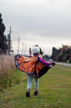 every little girl needs some butterfly wings