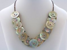 stacked buttons necklace
