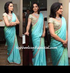 Ombre blue sari