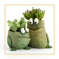 This is a Blob House planter by Artist Gesine Kratzner. - Planters - Ideas of Planters Clay Projects, Clay Crafts, Diy And Crafts, Ceramic Pottery, Ceramic Art, Pottery Animals, Succulent Pots, Ceramic Planters, Concrete Planters
