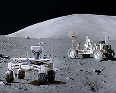 A Berlin-based group of rocket scientists and engineers are aiming to land a pair of privately funded Audi-branded robotic rovers on the moon and drive them to inspect NASA& Apollo 17 lunar roving vehicle. Illuminati, Moon News, Space Story, Moon Missions, Apollo Missions, Moon Landing, Neil Armstrong, Space Travel, Space Exploration