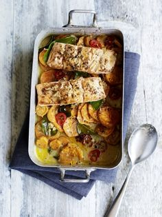 Asian salmon & sweet potato traybake | Jamie Oliver