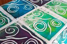 screen PRINTING 3d Alphabet, Fabric Design, Screen Printing, Tie Dye, Arts And Crafts, Bloom, Fabrics, Craft Ideas, Create
