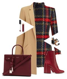 """""""Untitled #191"""" by fashvibe ❤ liked on Polyvore featuring Balmain, Petar Petrov, Miss Selfridge, Yves Saint Laurent, Chanel and Bobbi Brown Cosmetics"""