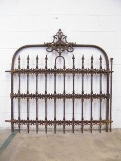 Columbus Architectural Salvage - Vintage Wrought Iron Fencing & Gate