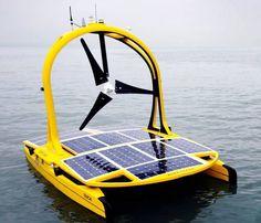 Autonomous sea vehicles with a mission. Solar/wind powered deep sea exploration