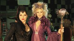 Once Upon a Time: Two Evil Queens! Lana Parrilla as Evil Queen/Regina and Kristin Bauer van Straten as Maleficent