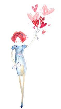 images about illustrator Illustration Mignonne, Art Et Illustration, Watercolor And Ink, Watercolor Paintings, Art Fantaisiste, Art Mignon, Dibujos Cute, Cecile, Art Challenge