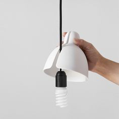 "wwwwwwwwwwwwwww: "" Venice is a porcelain lampshade that quickly turns a simple ceiling light point into a luminaire. Modern Lighting, Lighting Design, Ceramic Light, Concrete Lamp, Cool Lamps, Clever Design, Lampshades, Lamp Light, Industrial Design"