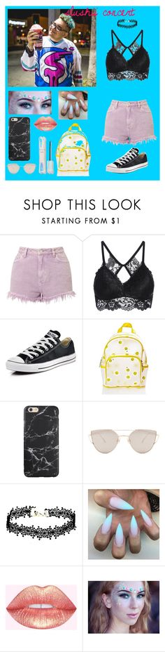 """""""slushii concert outfit #1"""" by abbyboudreau ❤ liked on Polyvore featuring Miss Selfridge, Converse, Current Mood and Gentle Monster"""