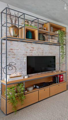 Home Office Design, Interior Design Kitchen, House Design, Industrial Design Furniture, Furniture Design, Pinterest Room Decor, Living Room Partition, Living Room Tv Unit Designs, Living Room Decor Inspiration