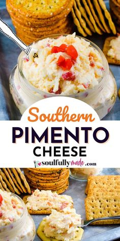 The BEST PIMENTO CHEESE Recipe - A classic staple that finds its way on the table of any southern gathering. Made with cheddar cheese, pimentos, a touch a creamy and a dash of heat. #SouthernPimentoCheese #PimentoCheese #CheeseSpread #PimientoCheese Best Dip Recipes, Party Dip Recipes, Easy Appetizer Recipes, Yummy Appetizers, Cupcake Recipes, Pimento Cheese Recipes, Cheese Ball Recipes, Cheddar Cheese, Party Sandwiches
