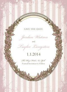 Pink Paris Save the Date Card