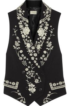 Temperley London | Lettie Tuva embroidered crepe vest | NET-A-PORTER.COM