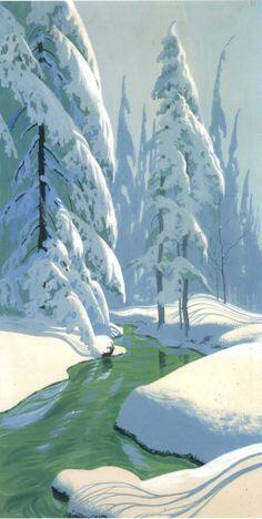 Disney Background Painting - Ralph Hulett.