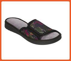 Dearfoams Womens Memory Foam Mesh Slide Slippers (Medium, Black) - Slippers for women (*Amazon Partner-Link)
