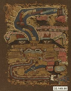 Embroidered Mantle Fragment | Paracas | The Met