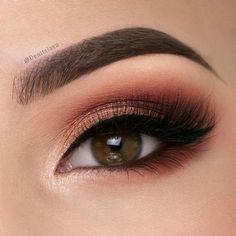 ideas for eye makeup sombras mate Makeup Eye Looks, Eye Makeup Art, Beautiful Eye Makeup, Natural Eye Makeup, Cute Makeup, Eyebrow Makeup, Skin Makeup, Makeup Inspo, Eyeshadow Makeup