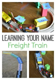 Learning Your Name is super fun with this Freight Train inspired activity!