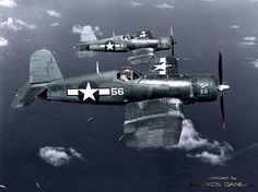 F4U-1 Corsairs of VMF-113 --- 1944  by Markos Danezis