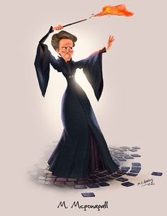 "The theme of ""Wizarding Wednesday"" is ""Minerva Mcgonagall"" so I enjoyed doing this character design ;) Mcgonagall in the Hogwarts battle!"