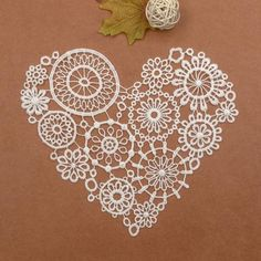 Crochet Heart Lace Motif Ivory Lace Collar Trims DIY Embroidery Sew on Applique | Crafts, Sewing, Embellishments & Finishes | eBay!