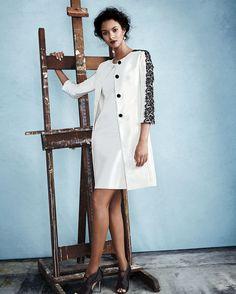 9feb4c064a3b0 Albert Nipon Lace-Trim Jacket   Sheath Dress Set