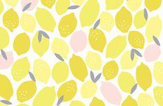 Pink Lemonade Seamless Pattern by origamiprints on @creativemarket