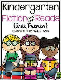 FREEBIE Fiction Close Read! {Kindergarten}